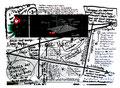 """""""Todesgrenze"""" WVZ 1.605 / datiert 10.07.98 / Filzstift auf Zeitungsblatt (1/2) """"Die Zeit"""" vom 09.07.98 / Maße b 39,2 cm * h 28,3 cm"""