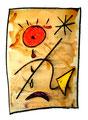 """""""Lassy V"""" / 17.12.1994 Werkverzeichnis 446, Aquarell, Kreiden und Graphit auf Papier, b 30,0 cm * h 40,0 cm"""