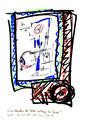 """""""Die Händler des Todes schlagen den Takt! 4"""" / Werkverzeichnis 2.034 / datiert 10.04.99 / Filzstift mit diversen Farben, teilweise Bleistift auf Papier / Maße b 21,0 cm * h 29,7 cm"""
