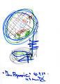 """""""Im Aquarium 9"""" / Werkverzeichnis 2.039 / datiert 10.04.99 / Filzstift mit diversen Farben, teilweise Bleistift auf Papier / Maße b 21,0 cm * h 29,7 cm"""
