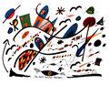 """""""Landschaftern"""" Blau-deutsche Landschaft Gestringen, 14.10.1993 Werkverzeichnis 362 Textilfarbe auf Aquarellpapier b 40,0 cm * h 30,0 cm"""