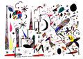 """""""Landschaftern"""" Das Jahr 1993. """"Erinnerung an Aufstieg und Fall"""" Gestr. 31.12.1993, Werkverzeichnis 392, Textilfarbe auf Aquarellpapier, b 65,4 cm * h 47,8 cm"""