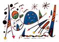 """""""Landschaftern - politisch herrschend"""" Gestringen, den 24.10.1993, Werkverzeichnis 364, Textilfarbe auf Aquarellpapier, b 40,0 cm * h 30,0 cm"""