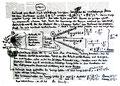 """""""Urknall"""" WVZ 1.606 / datiert 10.07.98 / Filzstift auf Zeitungsblatt (1/2) """"Die Zeit"""" vom 09.07.98 / Maße b 39,2 cm * h 28,3 cm"""