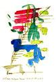 """""""Die Träume des Caspar Hauser"""" 3 / Werkverzeichnis 1.292 / datiert 23.02.97 / Filzstift und Aquarell auf Papier / Maße b 24,0 cm * h 30,0 cm"""