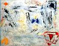 """""""Linoldruck o. T. - Bild 5 aus der Siebener-Serie -"""" Gestringen, den 02.02.1992, Werkverzeichnis 278, Druck auf Japanpapier, b 40,0 cm * 30,0 cm"""