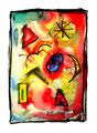"""""""Lassy IV"""" / 17.12.1994 Werkverzeichnis 445, Aquarell und Kreiden auf Papier, b 30,0 cm * h 40,0 cm"""