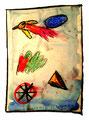 """""""Lassy VI"""" / 17.12.1994 Werkverzeichnis 447, Aquarell, Kreiden und Graphit auf Papier, b 30,0 cm * h 40,0 cm"""