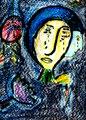 """""""Blicke"""" Isny, den 03.11.91, Nachträge-Werkverz., Kreide auf Papier, b 24,0 cm x h 33,0 cm, verkauft an Ulrich Flatau., Nordstraße 2a, 63477 Maintal"""