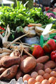 Bio-Produkte Demeter-Qualität. Kollwitz-Markt. Foto: Helga Karl