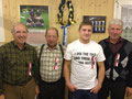 Gruppenmeisterschaft Kranzgewinner Wicki Hans Wigger Hermann Hafner Stefan Schmid Bruno