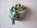 Ласточкино гнездо.Гжельский керамический завод.Автор А.Г. Сотников,  1960-е гг.