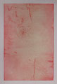 "Calm & Walm & like / drypoint, monotype on paper / 30 x 20 cm(apr. 12 1/4"" x 8"")"
