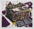 """Centre Pompidou, Paris"", 2007, Mischtechnik auf Plexiglas"