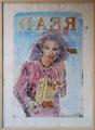 Aus der Serie Read, 2001, Kaltnadelradierung, gedruckt auf Papier und koloriert mit Aquarellfarben, 110x80 cm
