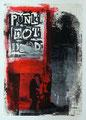 Schulblatt 138 (Punk´s Not Dead 02), Mischtechnik auf Papier, 29,7 x 21,0 cm, 2012