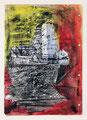 Schulblatt 115 (Ohne Titel - Urban Studies 01), Mischtechnik auf Papier, 29,7 x 21,0 cm, 2012