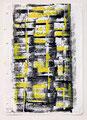 Schulblatt 121 (Ohne Titel - Fenster 07), Mischtechnik auf Papier, 29,7 x 21,0 cm, 2012