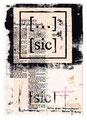 Schulblatt 166 ([...] [sic] 12), Mischtechnik auf Papier, 29,7 x 21,0 cm, 2013