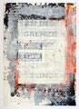 Schulblatt 135 (An Der Grenze Zum Misslingen), Mischtechnik auf Papier, 29,7 x 21,0 cm, 2012