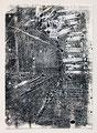 Schulblatt 126 (Ohne Titel - Urban Studies 07), Mischtechnik auf Papier, 29,7 x 21,0 cm, 2012