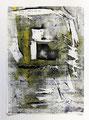 Schulblatt 095 (Ohne Titel), Mischtechnik auf Papier, 29,7 x 21,0 cm, 2012