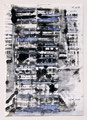 Schulblatt 118 (Ohne Titel - Urban Studies 04), Mischtechnik auf Papier, 29,7 x 21,0 cm, 2012