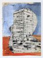 Schulblatt 116 (Ohne Titel - Urban Studies 02), Mischtechnik auf Papier, 29,7 x 21,0 cm, 2012