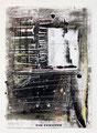 Schulblatt 119 (Ein Fenster), Mischtechnik auf Papier, 29,7 x 21,0 cm, 2012