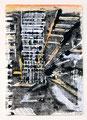 Schulblatt 117 (Ohne Titel - Urban Studies 03), Mischtechnik auf Papier, 29,7 x 21,0 cm, 2012