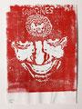 Schulblatt 009 (Selbstportrait 07), Acrylfarbe, gedruckt auf Papier, 29,7 x 21,0 cm, 2011
