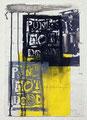 Schulblatt 141 (Punk´s Not Dead 05), Mischtechnik auf Papier, 29,7 x 21,0 cm, 2012
