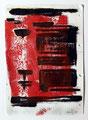 Schulblatt 019 (Ohne Titel), Mischtechnik auf Papier, 29,7 x 21,0 cm, 2011