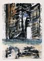 Schulblatt 125 (Ohne Titel - Urban Studies 06), Mischtechnik auf Papier, 29,7 x 21,0 cm, 2012