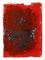 Schulblatt 011 (Selbstportrait 09), Acrylfarbe, gedruckt auf Papier, 29,7 x 21,0 cm, 2011