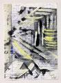 Schulblatt 124 (Ohne Titel - Urban Studies 05), Mischtechnik auf Papier, 29,7 x 21,0 cm, 2012