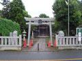 1)ステンレス鳥居:駒木台八幡神社(千葉県)