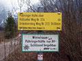 Wie hier auf dem Hinweisschild unschwer erkennbar ist, war dies auch der gleiche Weg wie zur Pühringerhütte und zum Rotgschirr.