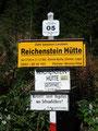 ... und schon nach wenigen Metern, vorbei an der Beschilderung Richtung Reichensteinhütte ...