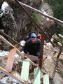 Noch schnell eine kleine Leiter überwunden und schon waren wir fast oben angekommen.