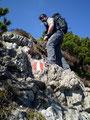 Weiter ging es über einige ungesicherte Felsstufen. Man musste zwar die Hände ab und zu mal zu Hilfe nehmen, ansonsten  aber auch kein größeres Problem.