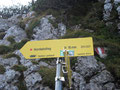 ... Klettersteig und Nordabstieg (Normalweg) ...
