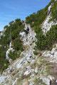 Schon ging es den spannenden und gut markierten Schrofen- und Felssteig weiter entlang.