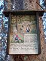 Ein am Baum angebrachtes lustiges Taferl zierte den Wegesrand. Auch dieses Schild lies uns nur kurz zum Lesen verharren und …