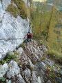 Nach dieser aberwitzigen Passage erreichten wir die drei letzten Leitern ...