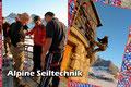 Im Anschluss daran übten sich die Teilnehmer in den alpinen Knoten- und Seiltechniken. Unter anderem wurde das Abseilen an der Hüttenterrasse trainiert und verfeinert.