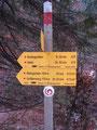Der nächste Wegweiser. Der Größtenberg noch immer mit 2,20 Std. angeschrieben und die ganzen zurückgelegten Höhenmeter wieder verloren.