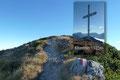 """Nach einer etwa 700m langen eindrucksvollen und vor allem aussichtsreichen Kammwanderung erreichte ich kurze Zeit später den Kitzstein (1925m). Hielt mich jedoch auch auf diesem """"Durchgangsgipfel"""" nicht allzu lange auf und …"""