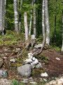 Wie so oft bei unseren Bergtouren wurden wir auch bei dieser von unseren Freunden, den Steinmännchen, an so mancher Stelle begleitet.