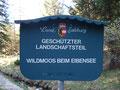 Mein weiterer Weg führt durch ein Naturschutzgebiet zum Almkogel
